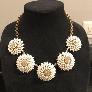 Ann Taylor Statement Necklace - White Floral